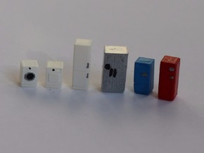 N Scale Household Appliances in Smooth Fine Detail Plastic
