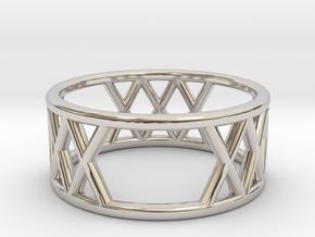 XXX Ring Size-5 in Platinum