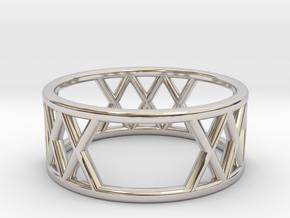 XXX Ring Size-6 in Platinum