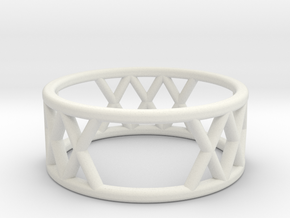 XXX Ring Size-6 in White Natural Versatile Plastic