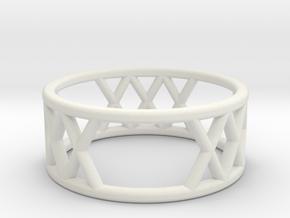 XXX Ring Size-6 in White Natural Versatile Plastic