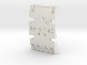 JaBird ;^) RC Dual Purpose SCX10 & SCX10.2 Skid Pl in White Natural Versatile Plastic