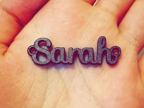 Personalised Name Pendant in Polished Bronze Steel