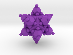 Small Dodecahedron approximated by dodecahedra in Purple Strong & Flexible Polished