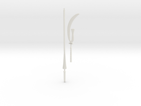 Sailor Saturn glaive 1/3 BJD scale in White Natural Versatile Plastic