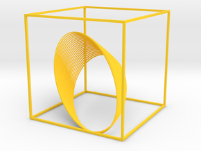 Cassini Grand Finale - cube in Yellow Strong & Flexible Polished