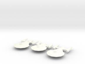 3 Starship Variants in White Processed Versatile Plastic