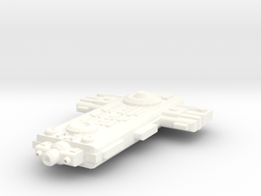 Small Freighter Ship in White Processed Versatile Plastic