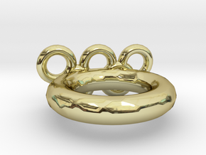 Olympic Ring US Size 9 in 18k Gold Plated Brass