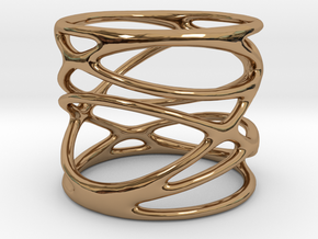 Ring - Mimas Seven in Polished Brass