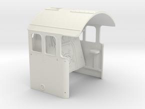 A0 - A1 Cab & Backhead Controls RHD in White Natural Versatile Plastic