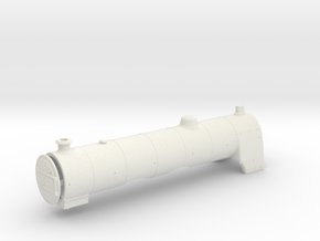 A0 1915 Parallel Boiler & Firebox in White Natural Versatile Plastic