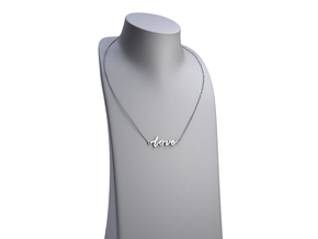 Love -- Calligraphy Pendant in Polished Silver