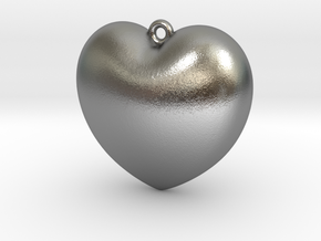 Heart-Pendant in Natural Silver