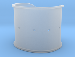 """Cuff Band Only - Bent (for wrists 2""""W x 1.5""""H) in Smooth Fine Detail Plastic"""