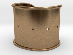 """Cuff Band Only - Bent (for wrists 2""""W x 1.5""""H) in Natural Brass"""