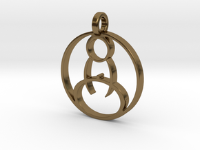 Meditation Pendant in Polished Bronze
