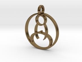 Meditation Pendant in Polished Bronze