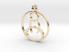 Meditation Pendant in 14k Gold Plated Brass