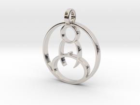 Meditation Pendant in Rhodium Plated Brass