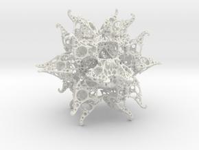 JkT Fractal in White Natural Versatile Plastic