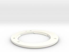 Fuji mount ring for PD Nikon capture lens in White Processed Versatile Plastic
