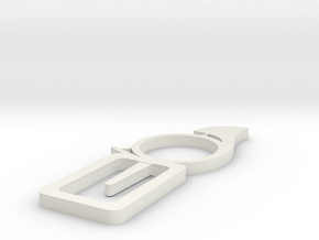 Horn bookmark in White Strong & Flexible