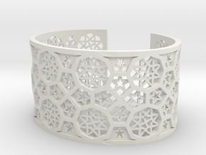 Bracelet Fatehpur Sikri India - size M (177mm) in White Premium Versatile Plastic
