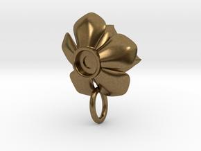 Rosette Succulent Pendant in Natural Bronze