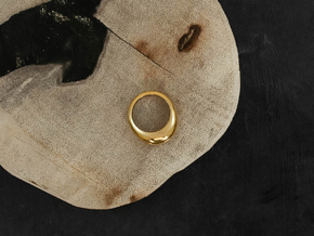 Norm Ring in 18k Gold Plated Brass: 4 / 46.5