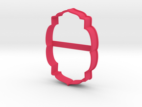 Plate 25 cookie cutter for professional in Pink Processed Versatile Plastic