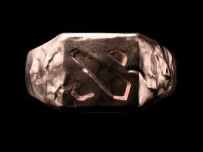 Dota2 Signet Ring in Natural Bronze: 6 / 51.5
