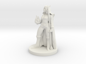 Tiefling Female Sorceress in White Natural Versatile Plastic