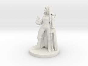 Tiefling Female Sorceress in White Natural Versatile Plastic