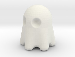 Pacman Ghost in White Natural Versatile Plastic