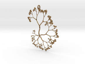 Fractal Trees Pendant in Natural Brass