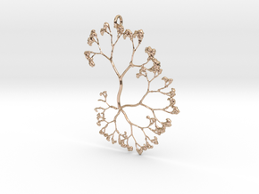 Fractal Trees Pendant in 14k Rose Gold Plated Brass