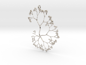 Fractal Trees Pendant in Platinum