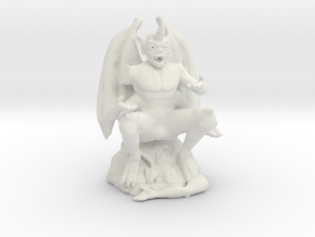 Gargoyle in White Natural Versatile Plastic