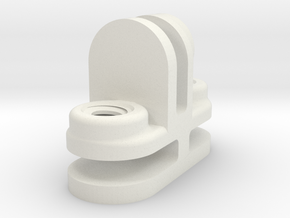 Glass House Coupler Bracket THREE WAY 3WAY in White Natural Versatile Plastic