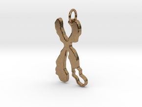 Chromosome Deletion Pendant in Natural Brass