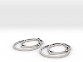 droplet earrings in Platinum