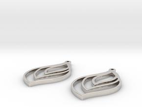 flame earrings in Platinum