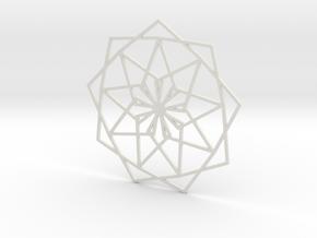 Coaster_1 in White Natural Versatile Plastic