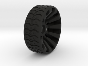 2 Inch Airless Tire for Use with 1/2 Inch Bearing in Black Natural Versatile Plastic