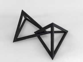 Interlocked Triangle Necklace in Black Natural Versatile Plastic