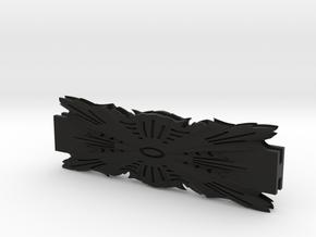 Glass House Leaf Pattern Coupler Bracket 6-INCH-LE in Black Natural Versatile Plastic
