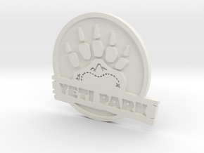 Team Fortress 2 Yeti Park Logo in White Strong & Flexible