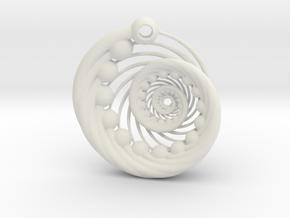 Comma Urchin Redux in White Natural Versatile Plastic