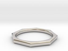 Octagon Ring in Platinum: 6 / 51.5